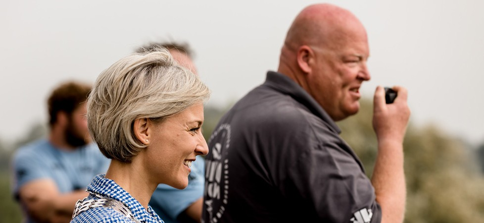Opening van de Lekkodagen door burgemeester Iris Meerts via de marifoon